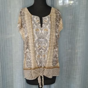 Floral Lucky Brand Top XL